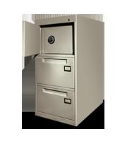 Archivero metálico con caja fuerte 1-2c