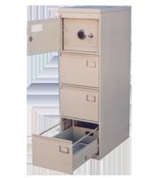 Archivero metálico con caja fuerte 1-3c