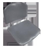 Asiento y cubierta ISO plastic gris