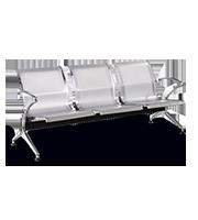 Banca Premium Airport Florencia 3 plazas aluminio