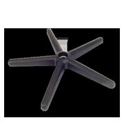 Base nylon K 24 pulg. con rodajas