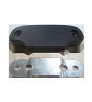 Caja de sujeción para tubular con placa