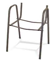 Estructura visitante ISO negro con brazos