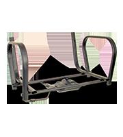 Estructura visitante para pistón ISO negra con brazos