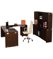 Oficina directiva Click con librero