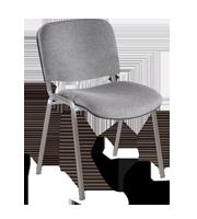 Silla de visita ISO tapiz estructura cromo