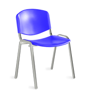 Silla de visita ISO plastic estructura cromo