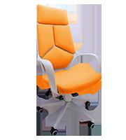 Sillon Plus Ejecutivo Brig Tapiz Naranja