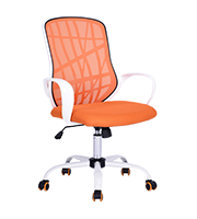 Silla para oficina Ejecutiva DESERT Blanco Tapiz Naranja