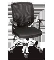Sillón ejecutivo Iron tapiz negro base cromada